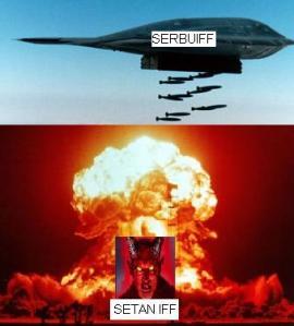 SETAN IFF DI BOMBARDIR SERBUIFF